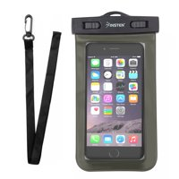 Insten Waterproof Underwater Phone Pouch Case Carrying Bag with Lanyard & Armband for iPhone XS XS Max XR X 8 7+ 6 Samsung S10 S10e S9 S9+ S8 S7 Plus Edge ZTE Zmax Pro Max Blade Spark Universal
