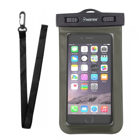 "Mobile Phone Waterproof Bag by Insten Waterproof Case Underwater up to 3 meter Dry Carrying Pouch Universal for Samsung Huawei ZTE HTC Sony LG Motorola Cell Smartphone Mobile Max 6.0"" Diagonal"