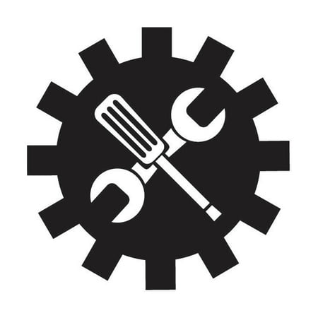 Off Screwdriver - Wrench Screwdriver Vinyl Graphic - Large