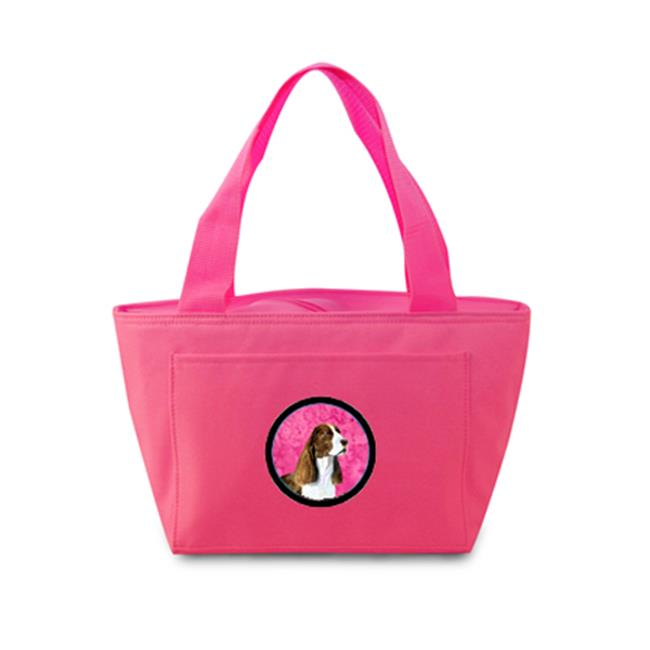Pink Springer Spaniel Zippered Insulated School Washable And Stylish Lunch Bag Cooler - image 1 de 1