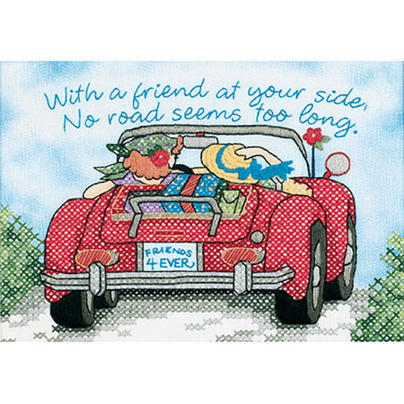 "Dimensions a Friend At Your Side Mini Stamped Cross Stitch Kit, 7"" x 5"""