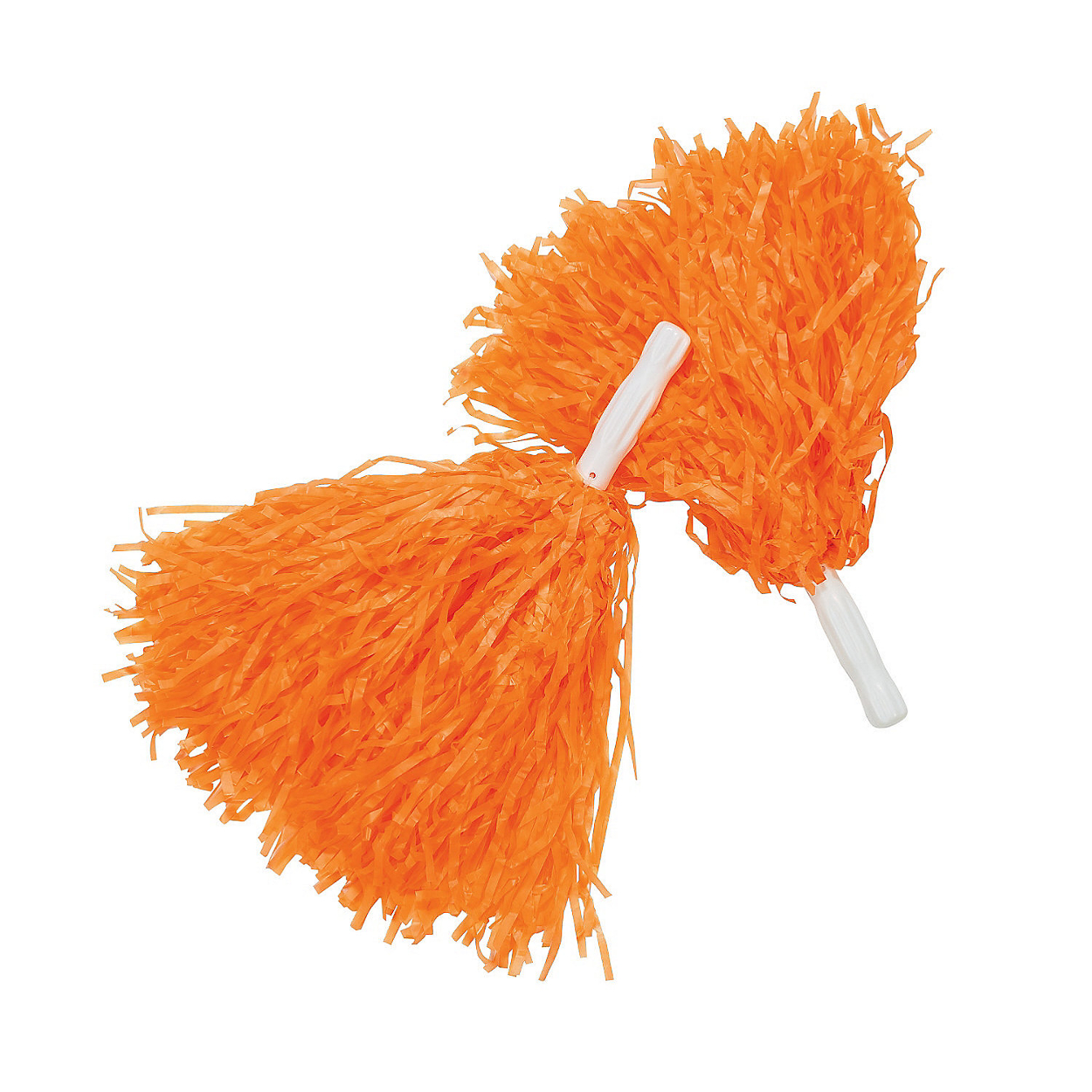 Orange Pom-Poms (Pair) Cheerleader Cheer Leader Squad Pep Costume Accessory - image 1 of 1
