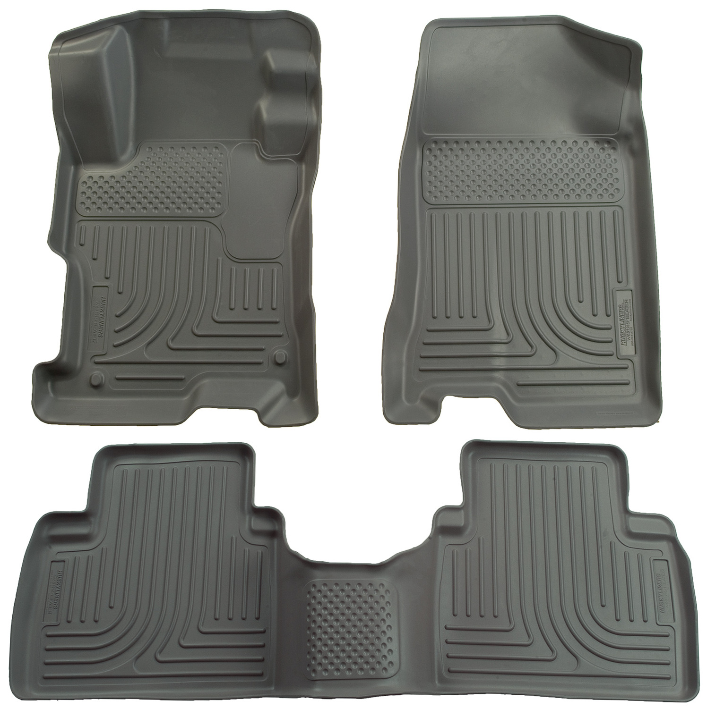 Husky Liners Front & 2nd Seat Floor Liners Fits 06-11 Civic 4 Door