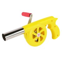 BBQ Fan Air Blower Hand Crank Barbecue Fire Bellow for Camping