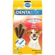 Pedigree Dentastix Small/Medium Dental Dog Treats, Beef Flavor, 5.57 Oz. (10 Treats)