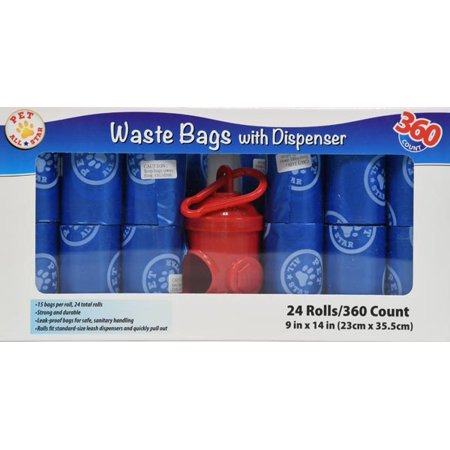 (2 Pack) Pet All Star Waste Bags with Dispenser, 720 count (Petco Bags)
