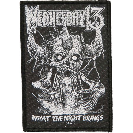 Wednesday 13 Men's What The Night... Woven Patch Black - Wednesday 13 Halloween 13-13