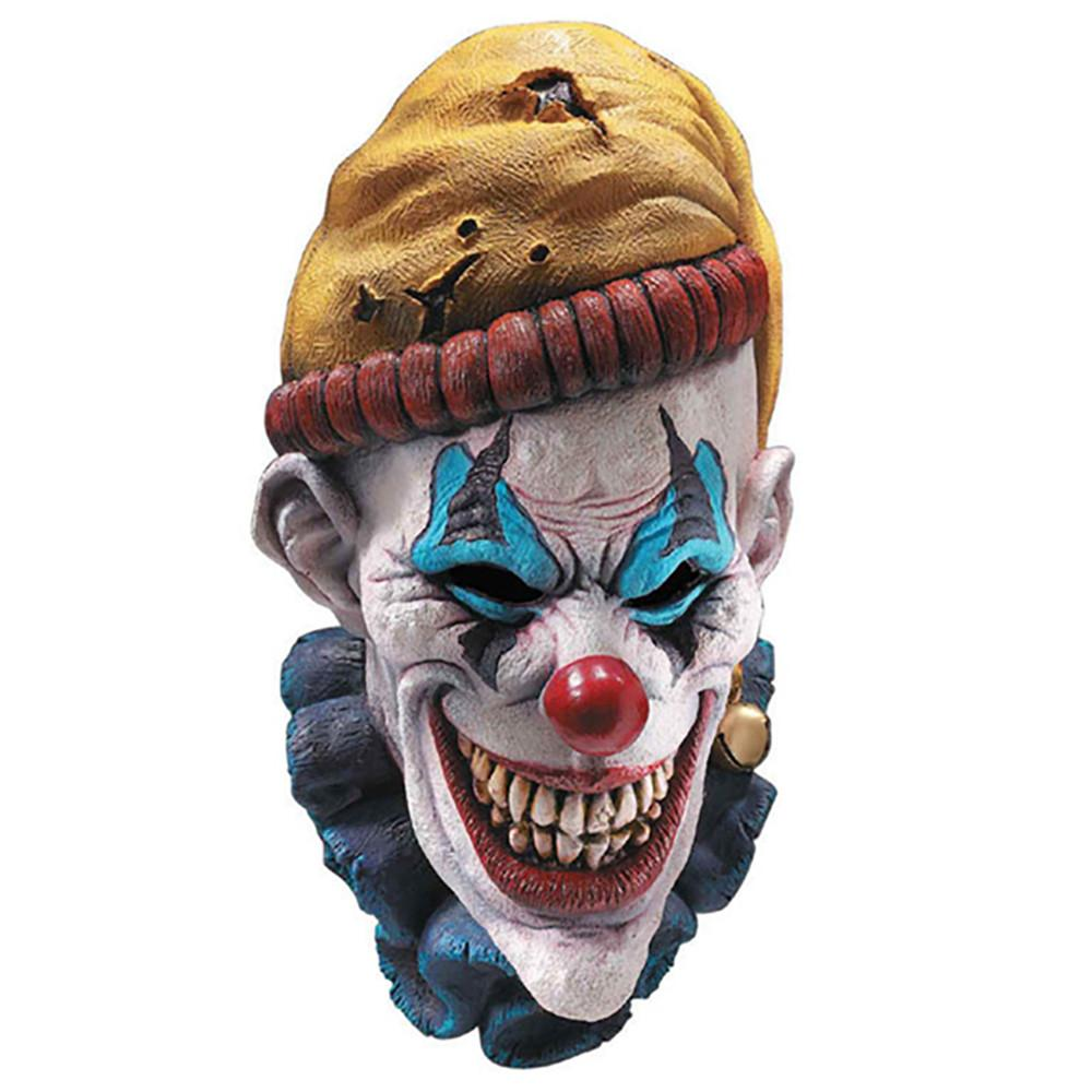 Insano Psycho Crazy Scary Killer Clown Adult Size Latex Over Head Mask
