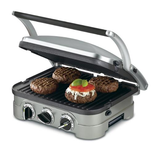 Cuisinart Stainless Steel 4-in-1 Grill/Griddle & Panini Press