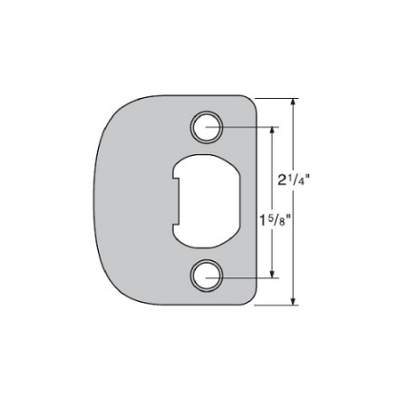 - Kwikset 83031 UL Listed 1/4 Inch Round Corner Full Lip Strike Plate