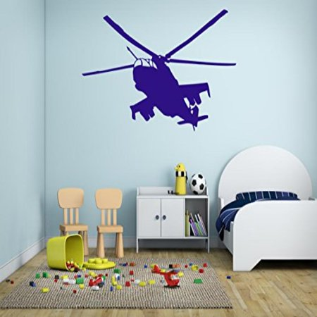 ik320 Wall Decal Sticker Decor military helicopter sky lounge kids ...