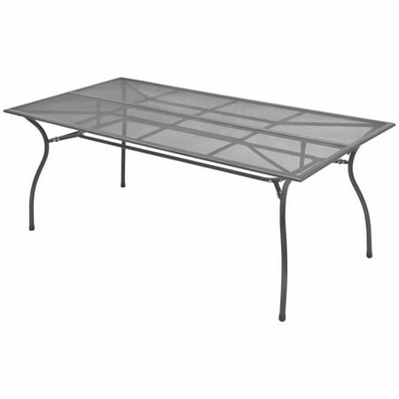 Outdoor Dining Table Steel Mesh 70.9