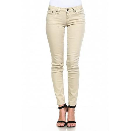 - Request Jeans Juniors Skinny Metallic Pants Five Pocket Styling Metallic Gold 3/26