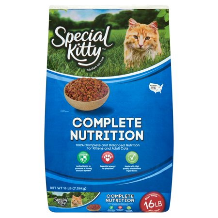 Special Kitty Complete Nutrition Premium Cat Food, 16