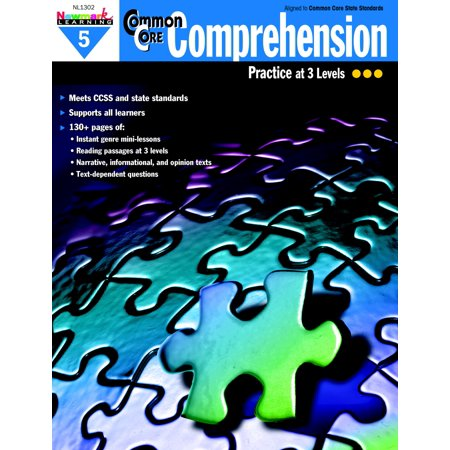 Newmark Learning Common Core Comprehension Reproducible Book, Grade 5