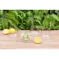 Better Homes & Gardens Claro Stemless Wine Glasses, Set of 4