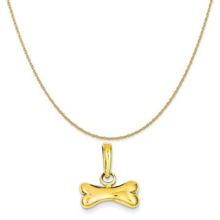 14k yellow gold dog bone pendant on a 14k yellow gold rope chain 14k yellow gold dog bone pendant on a 14k yellow gold rope chain necklace 20 aloadofball Images
