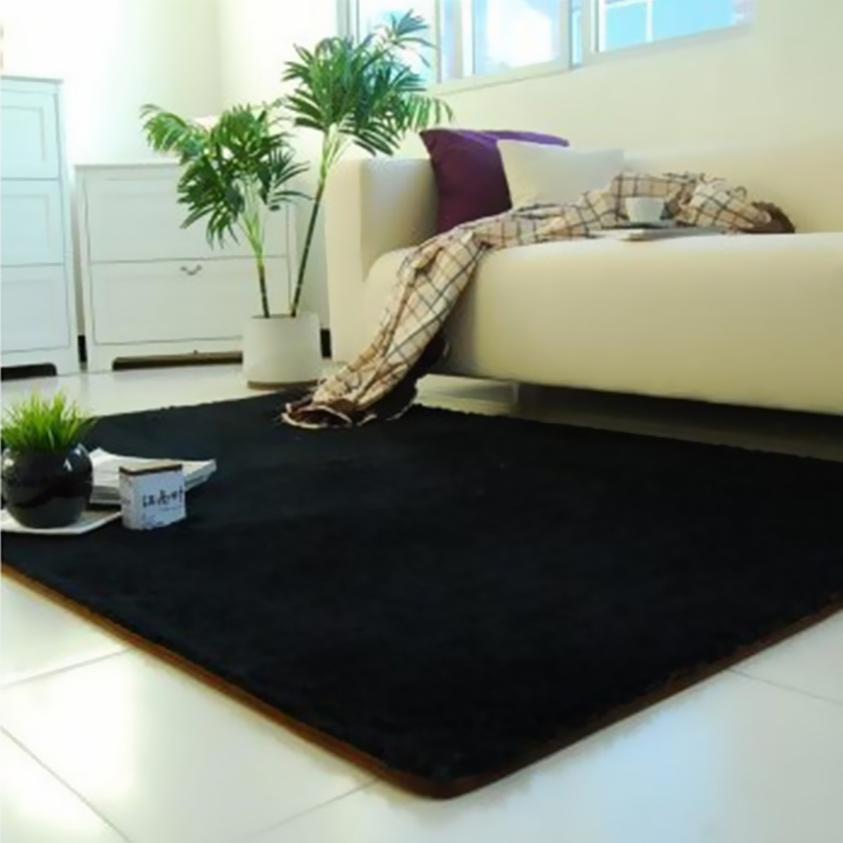 13 Colors 4 Sizes Modern Soft Fluffy Floor Rug Anti-skid Shag Shaggy Area Rug Home Bedroom Dining Room Carpet Child Play Mat Yoga Mat