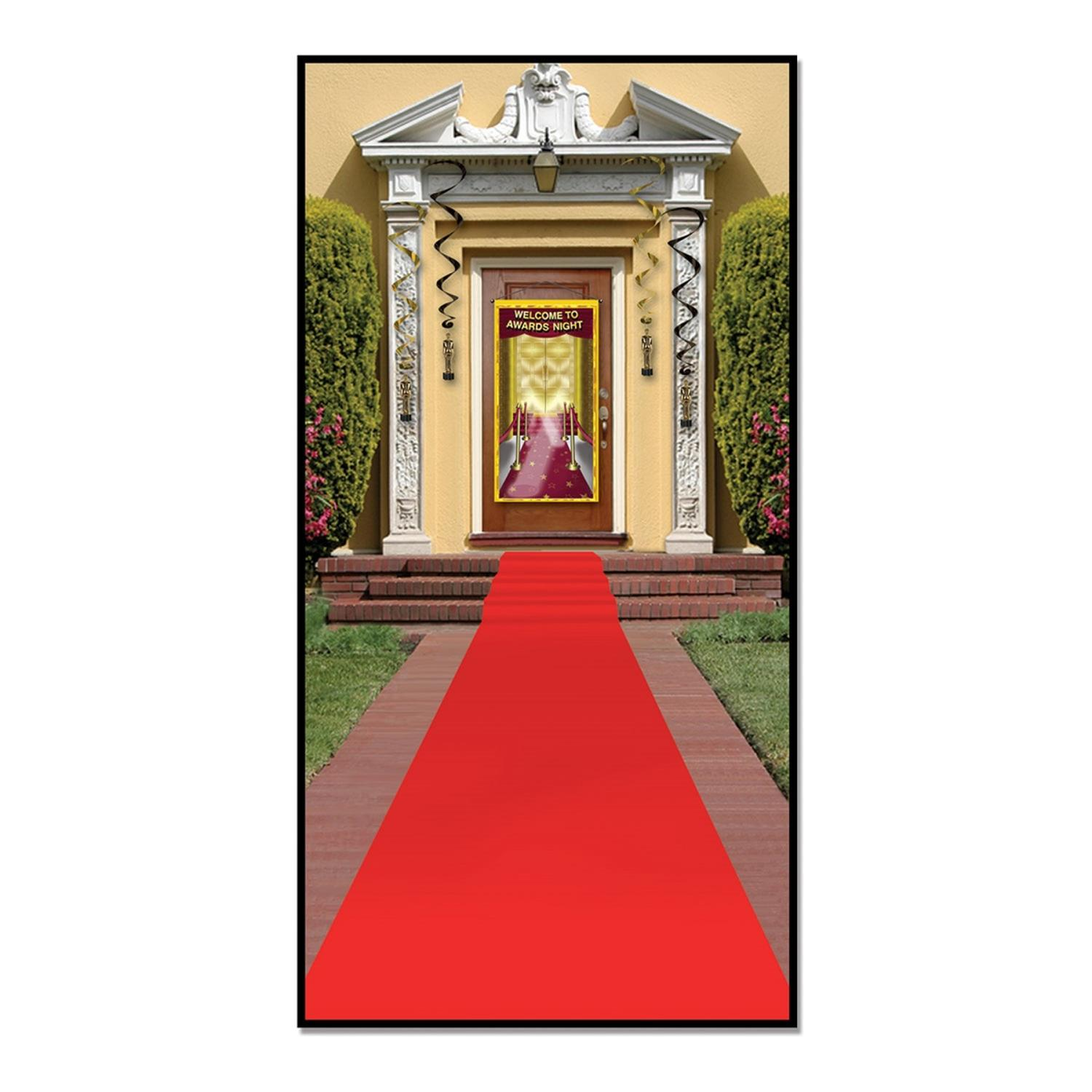 Pack of 6 Awards Night Themed Red Carpet Runner Party Decorations 15'