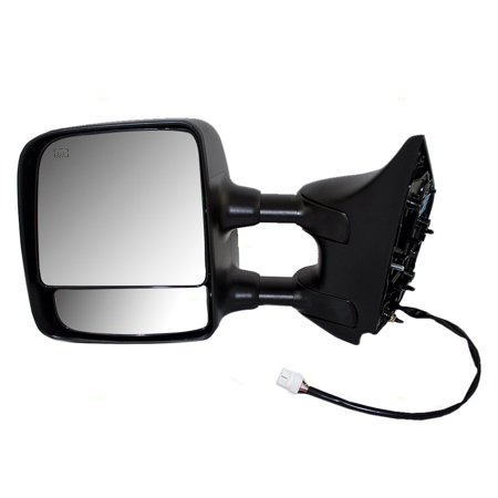 Drivers Power Tow Side Mirror Heated Telescopic Dual Arms Chrome Replacement for Nissan Pickup Truck 96302ZR10E