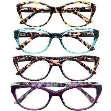 2.50 Reading Glasses - I.I.Image Women?s Plastic 4-Pack Reading Glasses (+2.50)