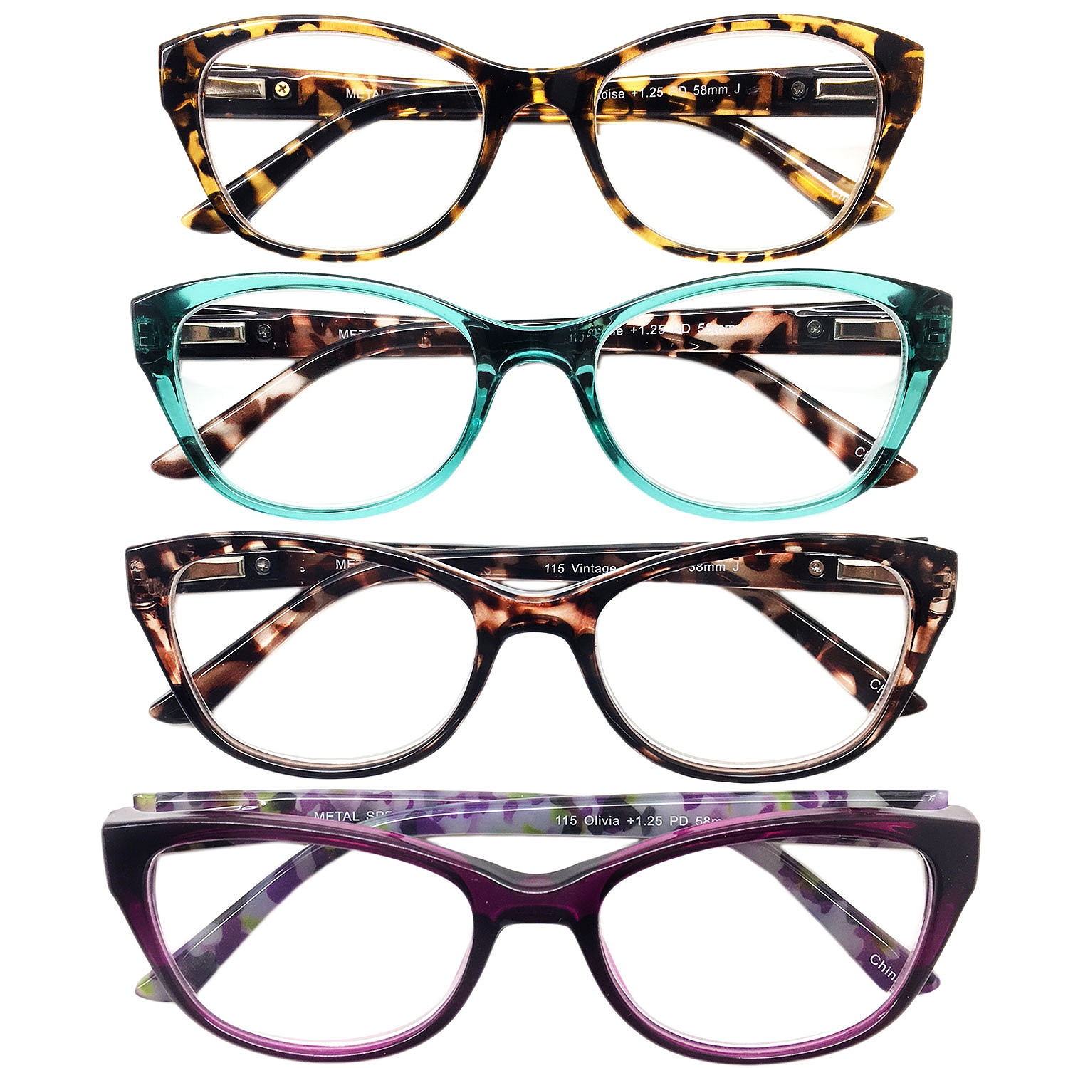 I.I.Image Women?s Plastic 4-Pack Reading Glasses (+1.75)