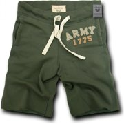 RapDom Army Normandy Mens Fleece Shorts [Olive Green - S]