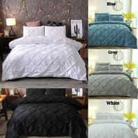 High Quality Modern Minimalist Bedding Set Handmade Flower 2/3pcs Bedding Sets 6 Sizes Twin Full Queen King Duvet Cover Sets