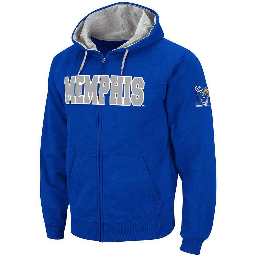Mens Memphis Tigers Full Zip Hoodie S by Colosseum