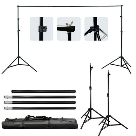Zimtown 6.5*10 Ft Adjustable Background 2 Support Stand Photo Backdrop 4 Crossbar Kit (Multiple Background Stand)