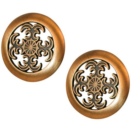 - Prime-Line Products N 6757 Bi-Fold Door Pull Knob, Antique Brass Plated,(Pack of 2)