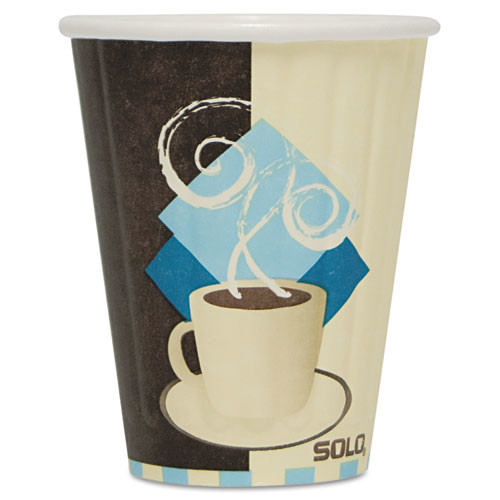 Solo Cup Company Tuscan Design Duo Shield Insulated Paper 8 oz. Hot Cups, 50 count