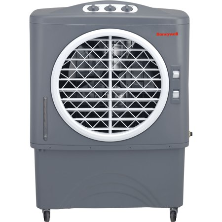Honeywell 1062 Cfm Indoor Outdoor Evaporative Air Cooler  Swamp Cooler  With Mechanical Controls In Gray