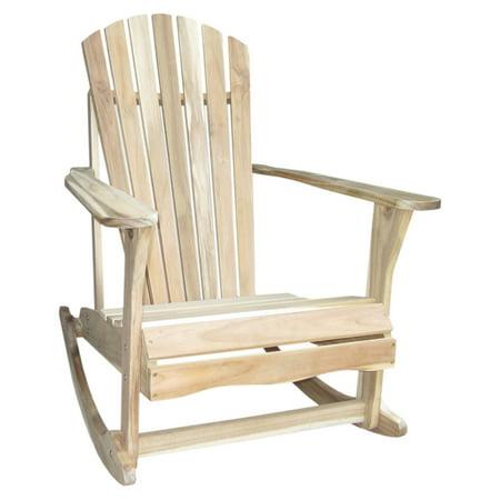 International Concepts Adirondack Rocker, Unfinished Adirondack Rocking Chair
