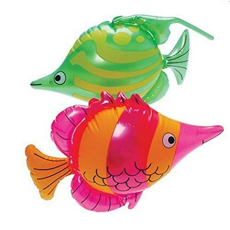 Luau Theme Inflatable Tropical Fish Pool Beach Toy (1)