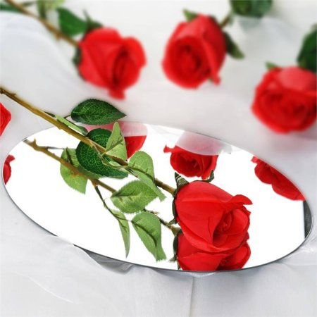 Efavormart 24 pcs Single STEMS Artificial Roses for DIY Wedding Bouquets Centerpieces Arrangements Party Home Decorations Wholesale