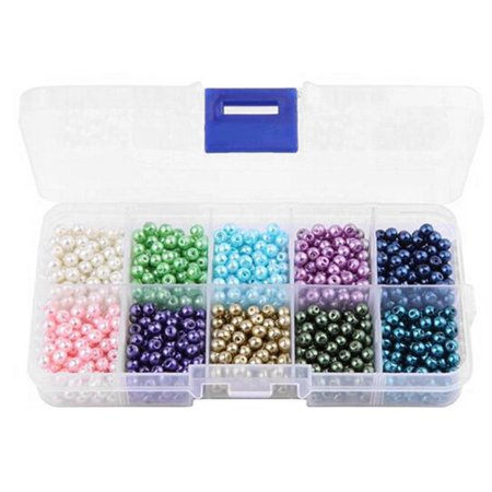 10 Colors 1000pcs/Box Plastic Imitation Pearls Beads DIY Making Jewelry Beads for Handmade Necklace Bracelet