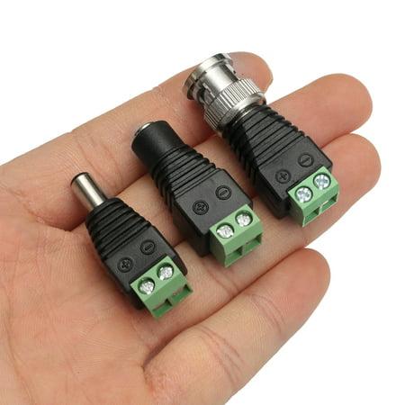 20PCS CAT5 TO BNC Passive Video + 20PCS Male Female Power Balun Transceiver  - image 4 de 9