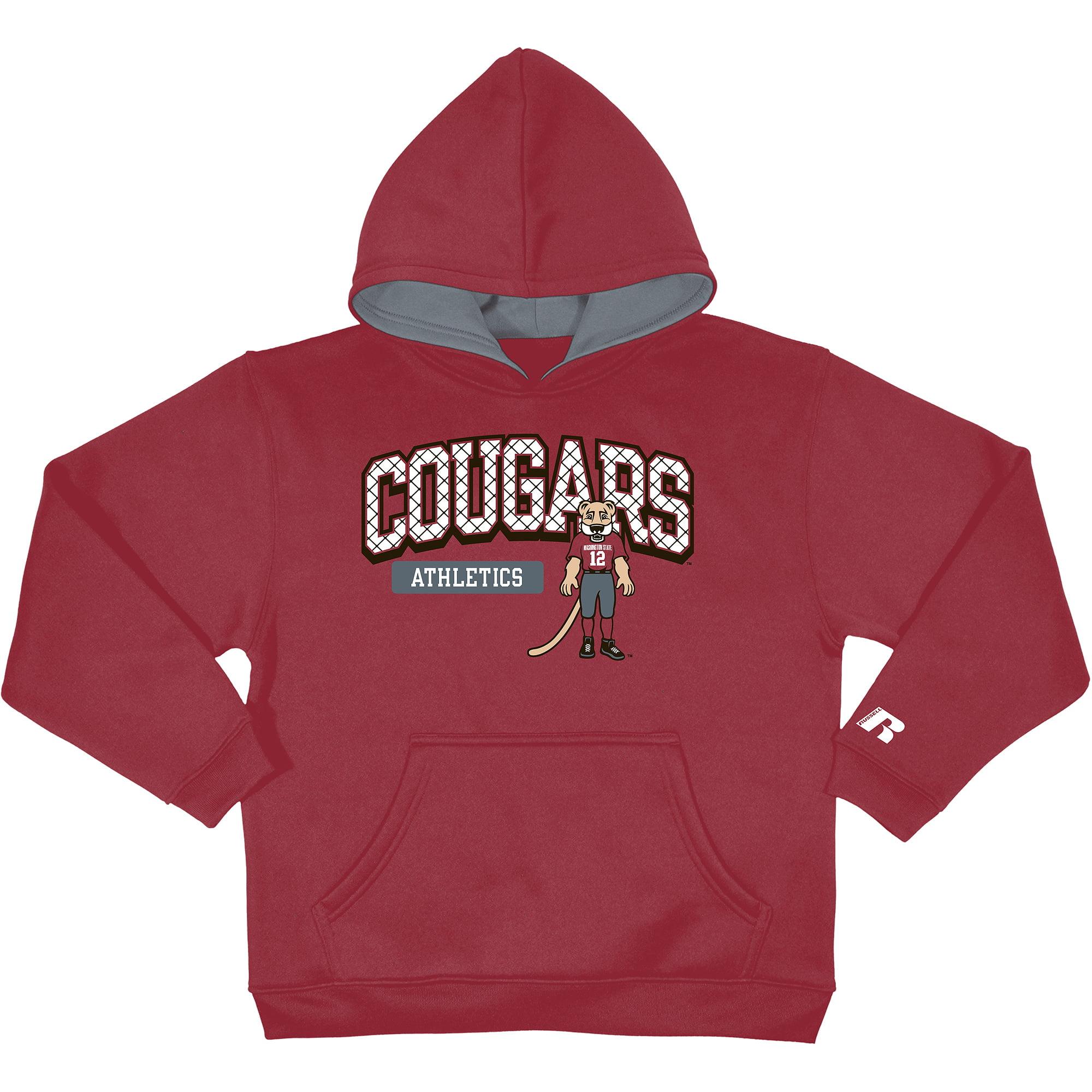 Russell NCAA Washington State Cougars, Boys Pullover Fleece Hood