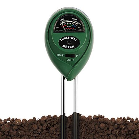 Soil pH Meter,pH Moisture Meter,3-in-1 Soil Testers with Accurate Probe for Garden,Indoor or Outdoor