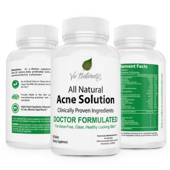 Vie Naturelle Acne Treatment Pills Supplement