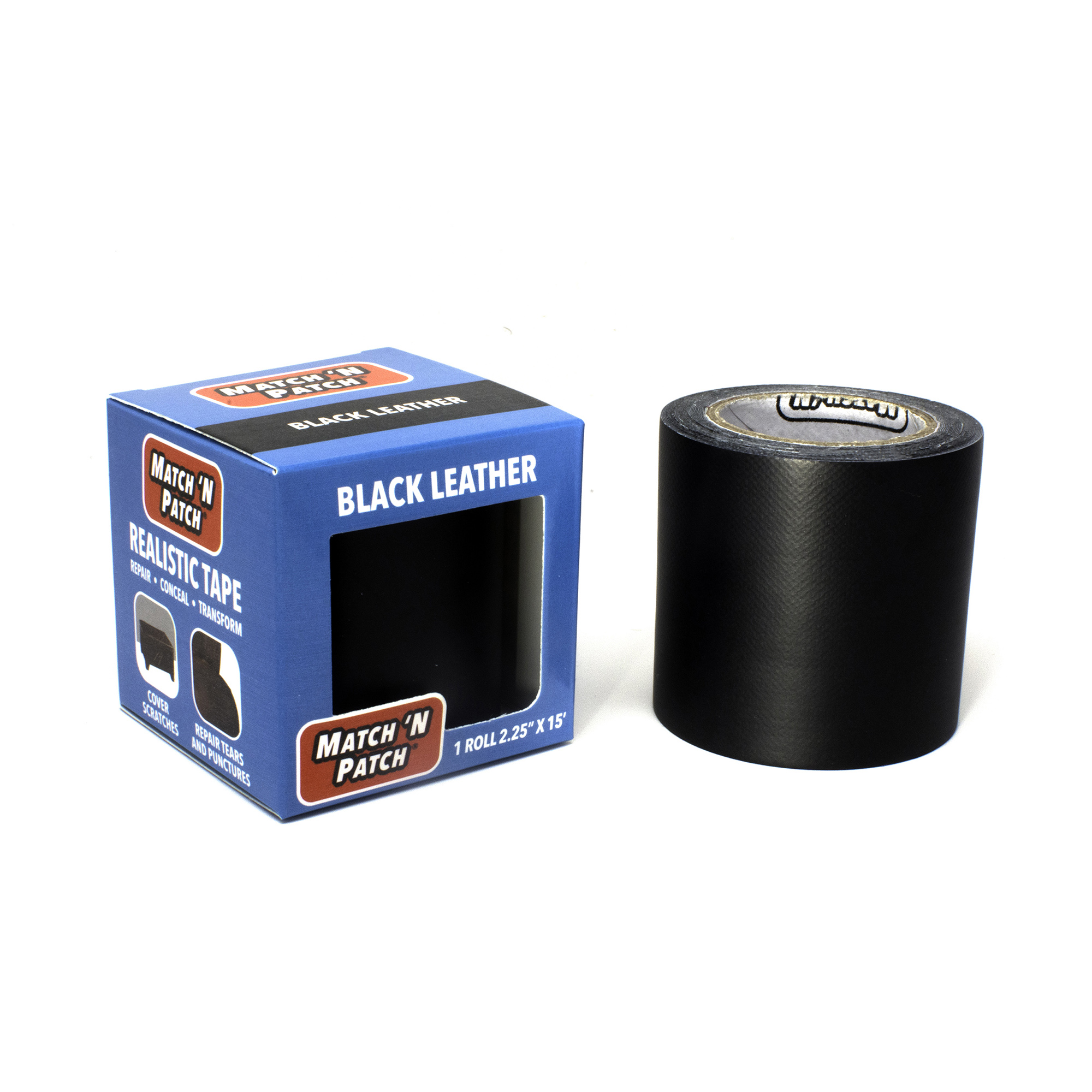 Match N Patch Realistic Black Leather Repair Tape