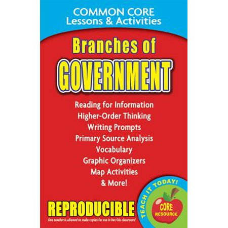 Branches of Government : Common Core Lessons & Activities (4 Branches Of Government)