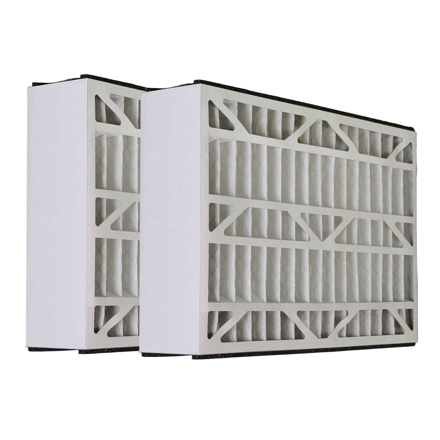 Tier1 Replacement for Skuttle 20x25x5 Merv 8 AC Furnace Air Filter 2 Pack