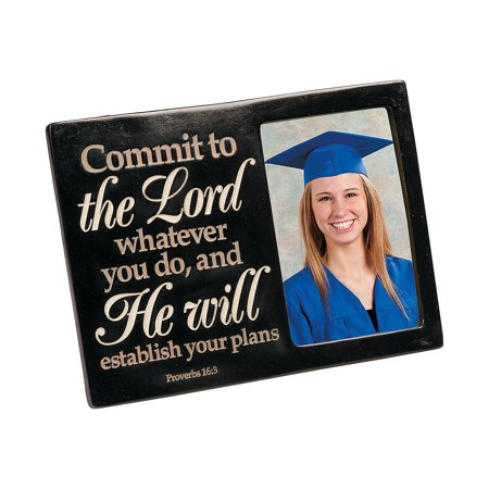 Fun Express - Religious Graduation Frame for Graduation - Home Decor - Gifts - Photo Frames & Photo Albums - Graduation - 1 Piece](Fun Frames)