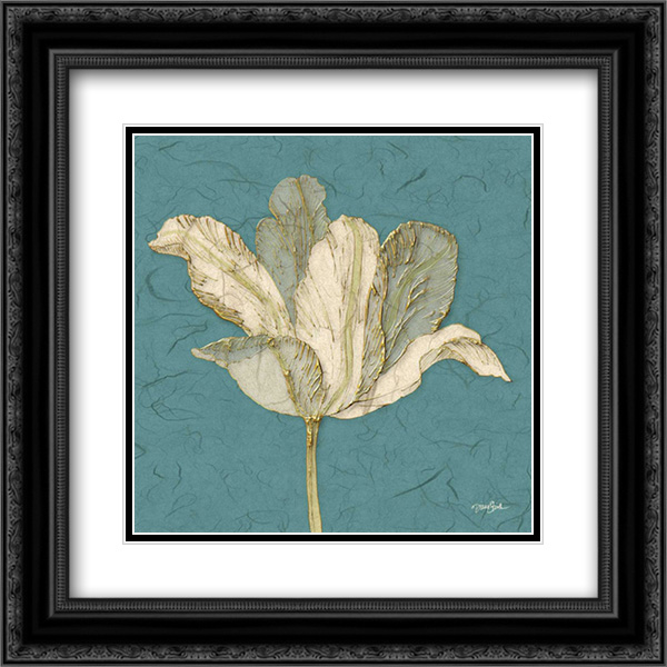 Muted Teal Behind Tulip 2x Matted 20x20 Black Ornate Framed Art Print By Stimson Diane Walmart Com Walmart Com