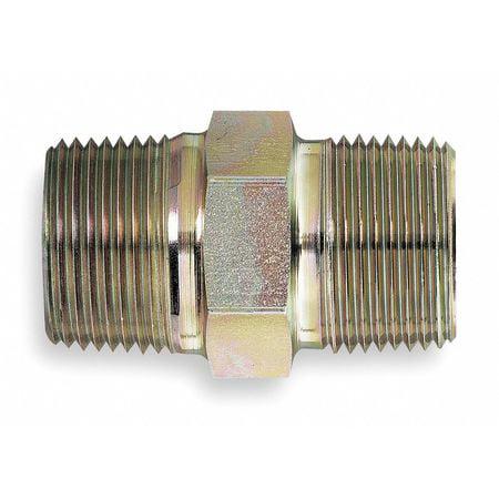 EATON 2083-4-4S Hose Adapter, MNPT, Hex Nipple
