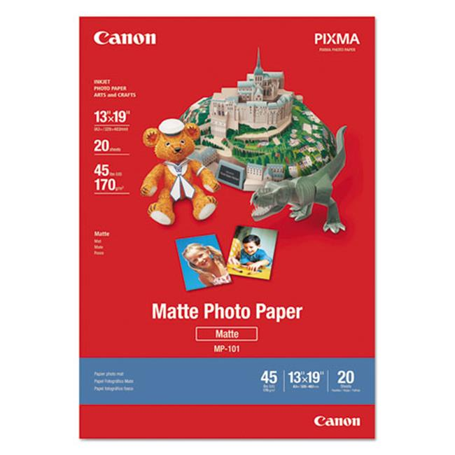 Canon Wide Format 7981A011 Matte Photo Paper, 13 x 19, 45 lb. , White, 20 Sheets/Pack