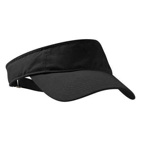 Port Authority Adjustable Fashion Sweatband Twill Visor Cotton Twill Long Visor