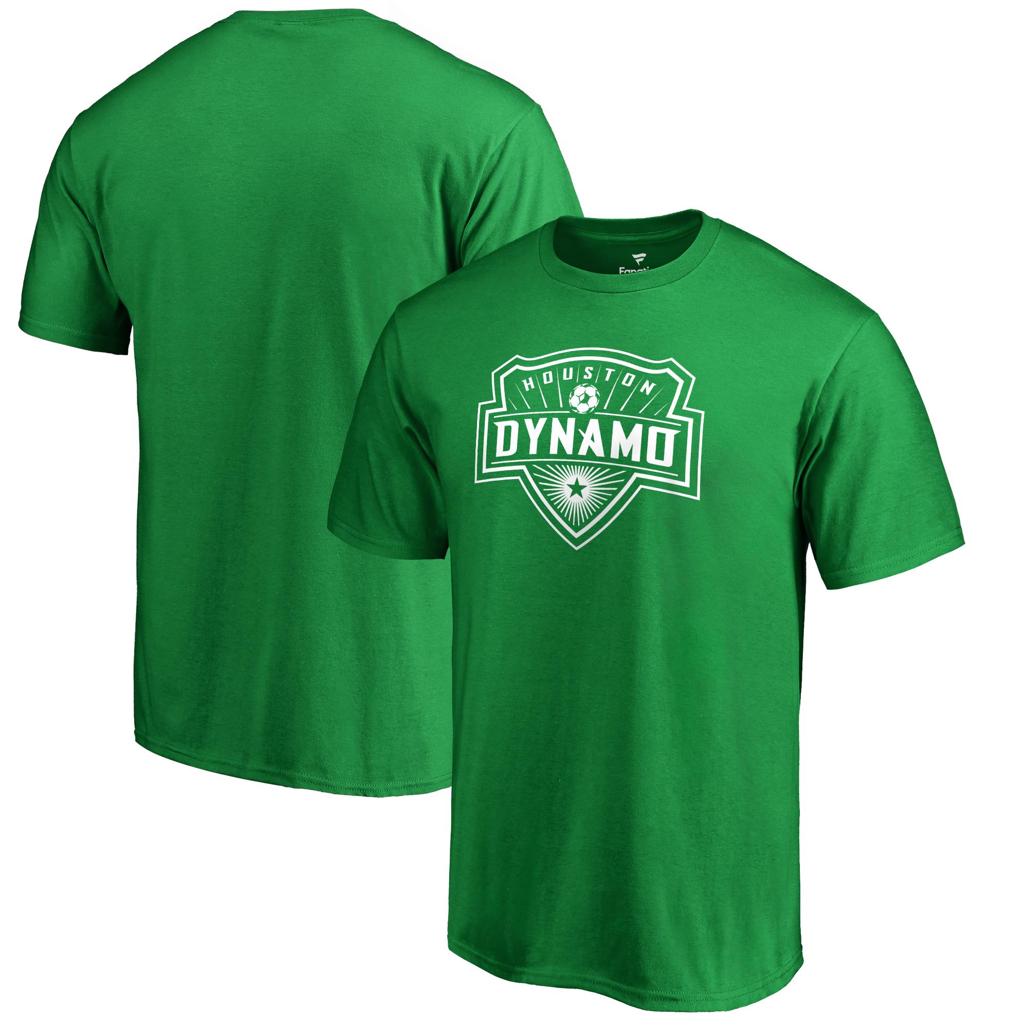 Houston Dynamo Fanatics Branded St. Patrick's Day White Logo T-Shirt - Kelly Green